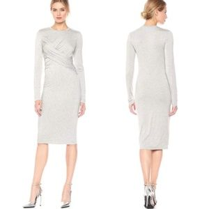 KENDALL + KYLIE Grey Long Sleeve Twist Dress